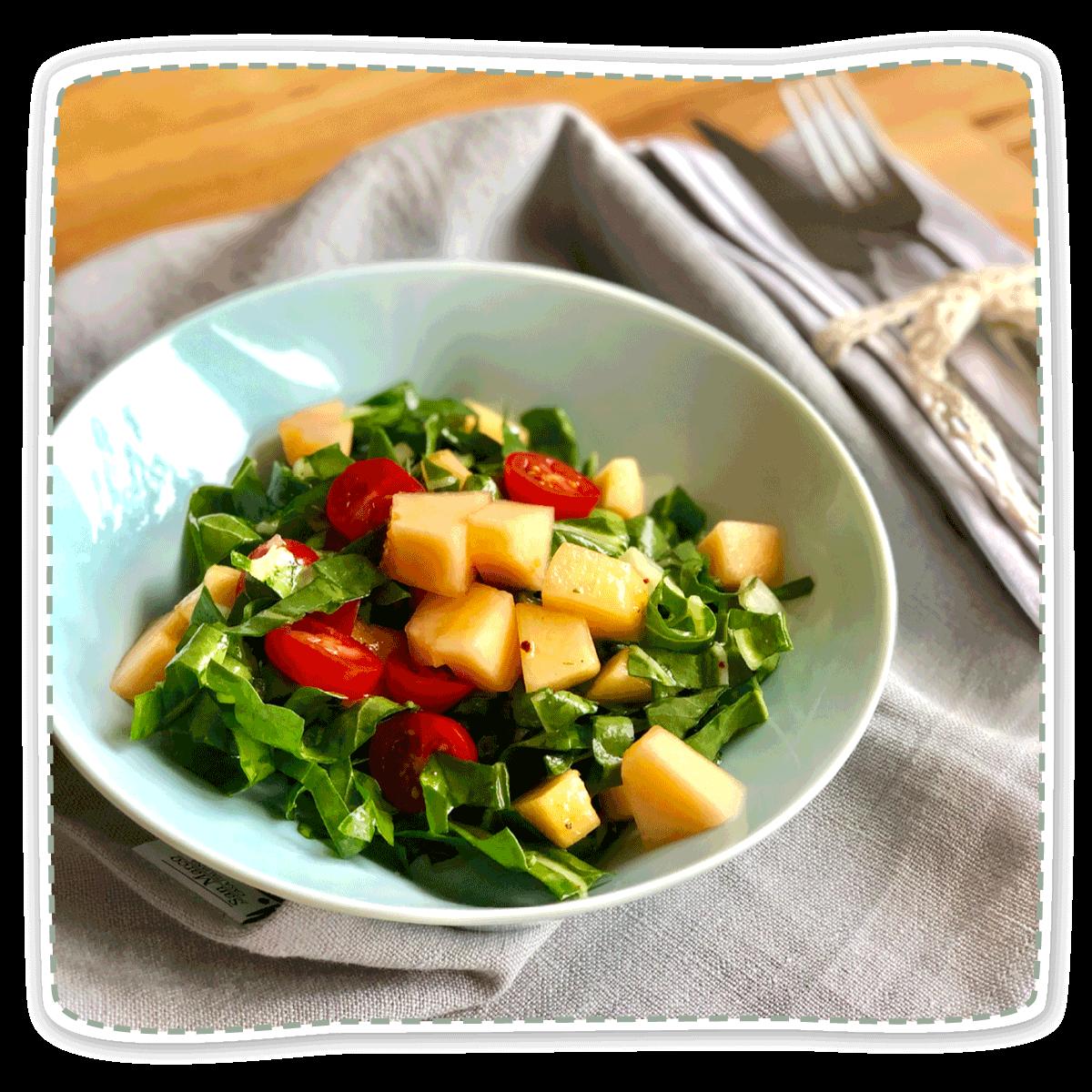 Mangold-Melonen-Salat