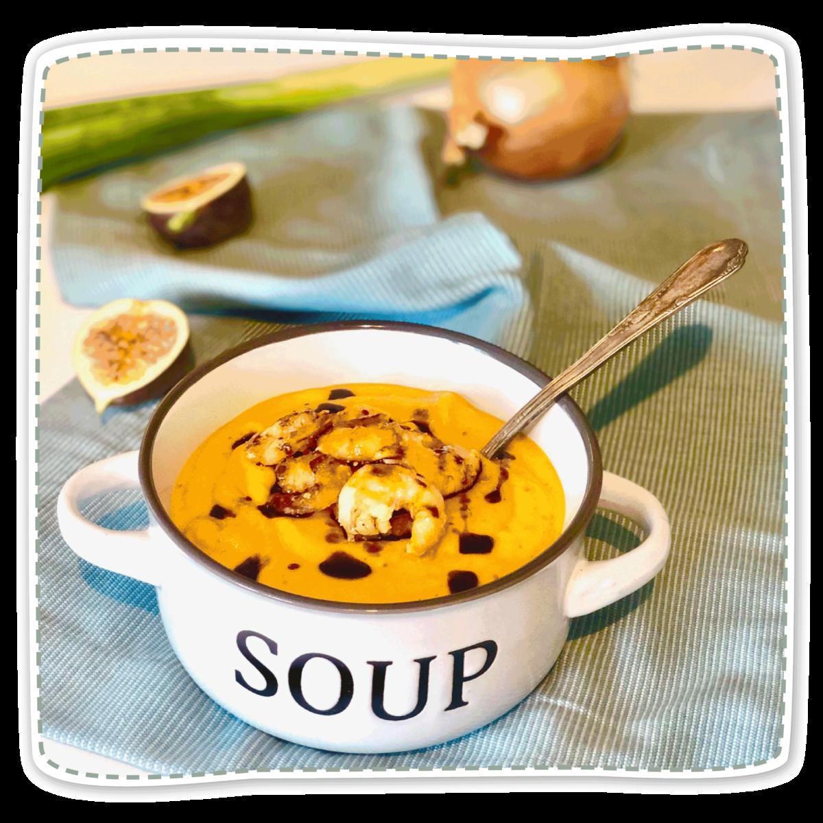 Feigen-Kürbis Suppe