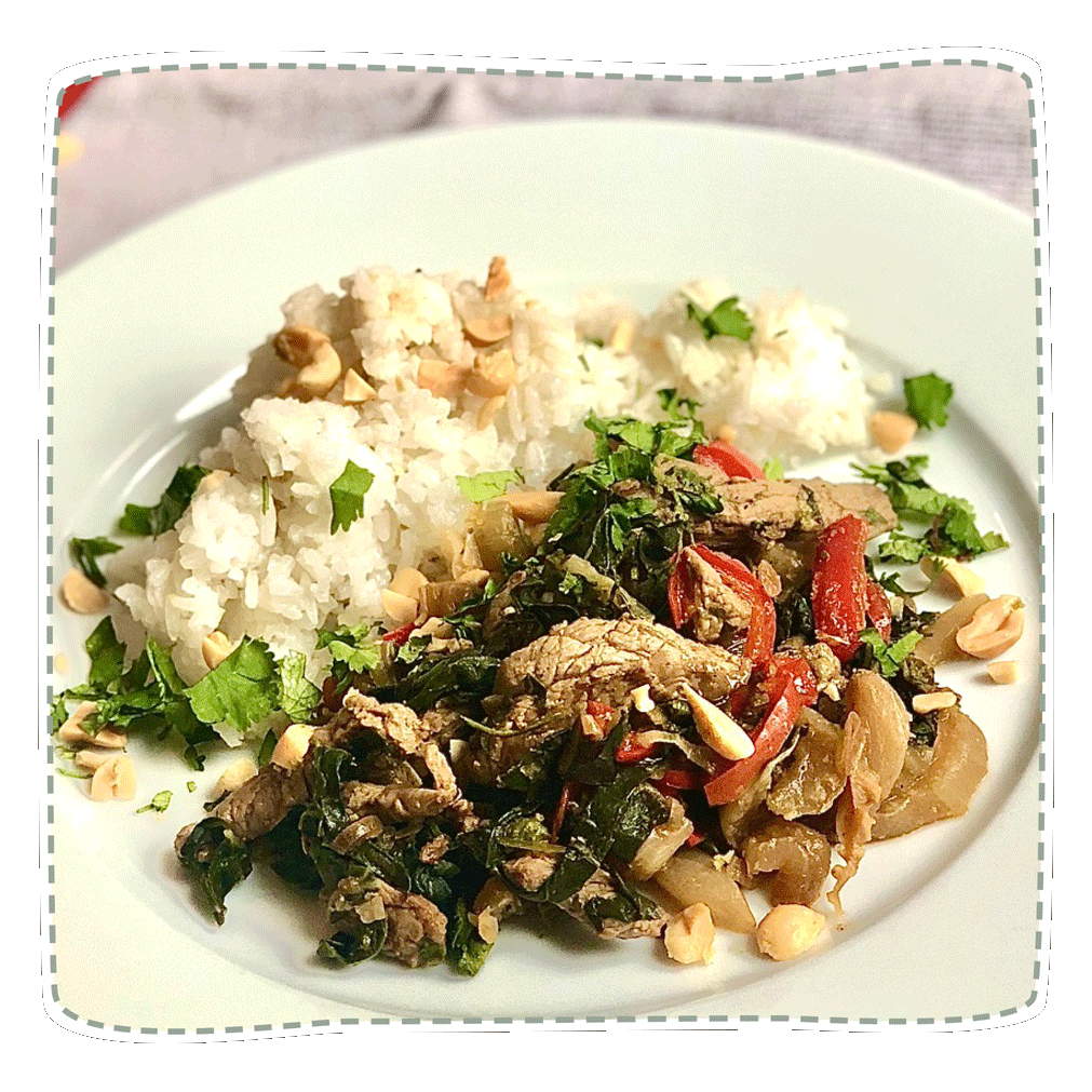 Pakchoi-Rinder/ Tofu-Pfanne